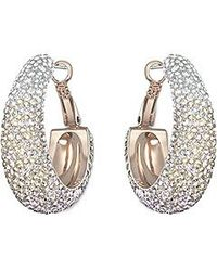 Swarovski | Metallic Abstract Hoop Pierced Earrings | Lyst