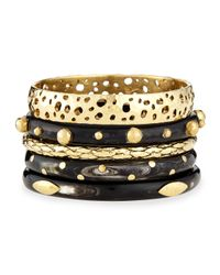 Ashley Pittman | Metallic Nadra Dark Horn Bracelets | Lyst