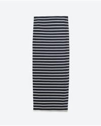 Zara | Black Long Skirt | Lyst