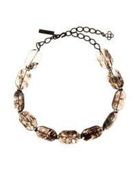 Oscar de la Renta | Natural Crystal Embellished Necklace | Lyst
