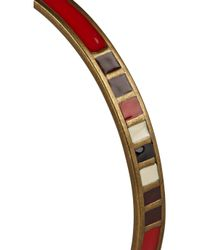 Isabel Marant - Red Blondie Brass Resin Bracelet - Lyst