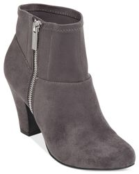 BCBGeneration | Gray Datto Suede Booties | Lyst