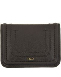 Chloé | Black Paraty Leather Card Holder | Lyst