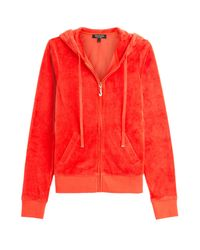 Juicy Couture - J Bling Velour Hoodie - Red - Lyst