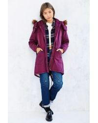 Numph - Purple Rebecca Parka - Lyst