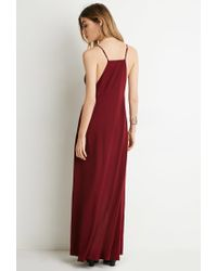 Forever 21 | Purple M-slit Maxi Dress | Lyst