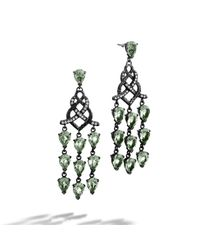 John Hardy - Metallic Chandelier With Black Ruthenium Earrings - Lyst