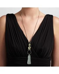 John Lewis - Metallic Silver Gold Toned Long Pendant Necklace - Lyst