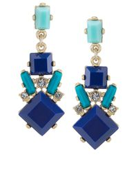 Carolee - Blue Miami Mod Chandelier Earrings - Lyst