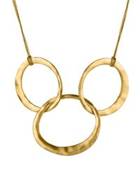 Kenneth Cole | Metallic Goldtone Hammered Rings Necklace | Lyst