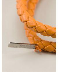 Bottega Veneta | Orange Intrecciato Bracelet | Lyst
