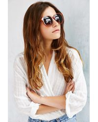 Urban Outfitters - Brown Double Layer Oversized Round Sunglasses - Lyst