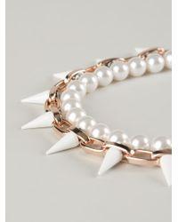 Joomi Lim | White Spike Necklace | Lyst