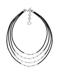 John Hardy | Metallic Bamboo Silver Four Row Necklace for Men | Lyst