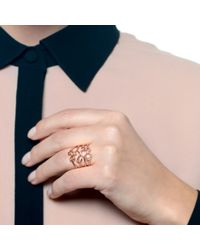 Lulu Frost - Metallic Code Number 14kt Rose Gold #4 Ring - Lyst