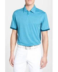 Nike - Blue 'Victory Block' Dri-Fit Golf Polo for Men - Lyst