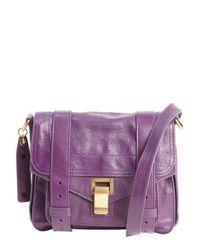 Proenza Schouler - Royal Purple Leather 'Ps1 Pouch' Buckle Strap Shoulder Bag - Lyst