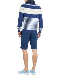 Etro | Striped Cashmere Pullover - Blue | Lyst