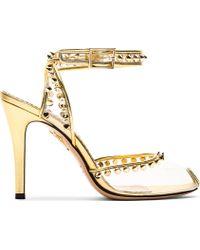 Charlotte Olympia - Metallic Soho Studded Pvc Sandals - Lyst
