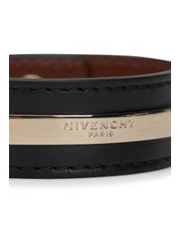 Givenchy | Black Leather Cuff | Lyst