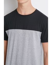 Forever 21 - Black Colorblocked Tee - Lyst