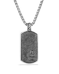 David Yurman - Metallic Cable Tag On Chain - Lyst