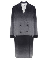 Paul by Paul Smith - Gray Oversized Ombre Mohair Coat - Lyst