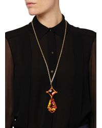 Matthew Williamson | Orange Geometric Pendant Necklace | Lyst