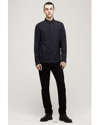 Rag & Bone - Blue Naval Shirt for Men - Lyst