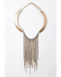 Forever 21 - Metallic Fringe Statement Necklace - Lyst