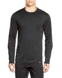 Patagonia | Black 'capilene Midweight' Base Layer Long Sleeve Shirt for Men | Lyst