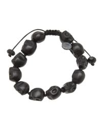 Joseph Brooks | Black Onyx Skulls Bracelet for Men | Lyst