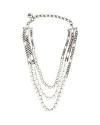 Lanvin - Metallic Kristin Triple-strand Necklace - Lyst