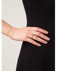 Hoorsenbuhs - White 'Dame Tri-Link' Ring - Lyst