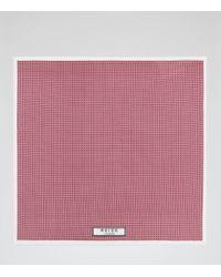 Reiss - Pink Rainer Silk Pocket Square for Men - Lyst