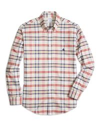 Brooks Brothers | Natural Non-iron Madison Fit Tartan Sport Shirt for Men | Lyst