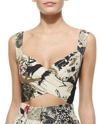 Donna Karan - Multicolor Printed Crop Top - Lyst