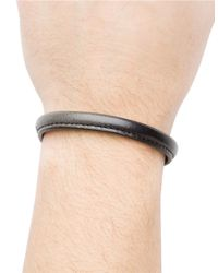 Hook + Albert - Gray Leather Bangle Bracelet for Men - Lyst