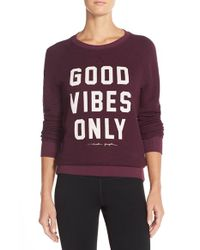 Spiritual Gangster Red 'good Vibes Only' Sweatshirt