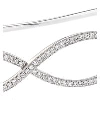 Gaydamak - Metallic Diamond & White-Gold Hand Bracelet - Lyst