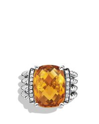 David Yurman | Metallic Wheaton Ring With Citrine And Diamonds | Lyst
