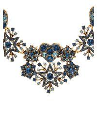 Oscar de la Renta - Metallic Swarovski Crystal-pavé Necklace - Lyst
