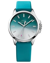 Juicy Couture - Blue Women'S Jetsetter Turquoise Silicone Strap Watch 38Mm 1901166 - Lyst