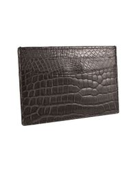 Trafalgar | Black Genuine Alligator Leather Card Case for Men | Lyst