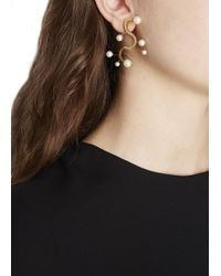Smith/grey | Metallic Monastery Of Pearls Gold Plated Earring | Lyst