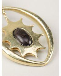 Vaubel   Metallic Sun Hoop Earrings   Lyst