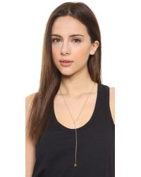 Jennifer Zeuner | Metallic Lake Lariat Necklace - Gold | Lyst