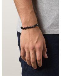 Joseph Brooks | Black Spinel Beaded Bracelet for Men | Lyst