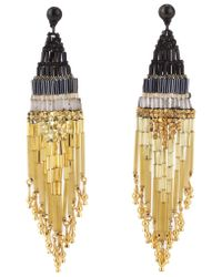 Gas Bijoux | Ulla Black and Gold Earrings | Lyst