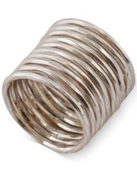 Lucky Brand - Metallic Silver-tone Stacked Ring - Lyst